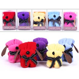 Wholesale Cute Wedding Favors Supplies Colors Cotton Towel Royal Blue Red Pink Purple Dog Shaped Can Take Apart Free Shiping More Pieces More Cheaper