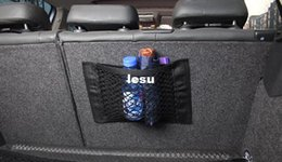 Wholesale Fashion Hot Strong Magic Tape Car Seat Back Storage Mesh Net Bag cm cm Luggage Holder Pocket Sticker Trunk Organizer Car Styling