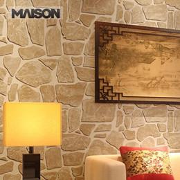 Fond d'écran d'ardoise à vendre-LIVRAISON GRATUITE!! 2015 Papier peint écologique en ardoise en pierre 3D Papier peint en relief VINYL en PVC Papier peint en brique vintage Papier peint pour décoration intérieure