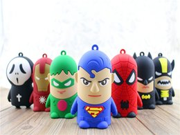 Wholesale Portable D cartoon mah power bank Star Wars Yellow Minion spider man Iron man avengers External Battery power supply for mobile phone