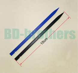 Wholesale Black Blue CM Antistatic Plastic Flat Cable Pry Tool Spudger Bar Crowbar Repair Prying Tools for iPhone Android