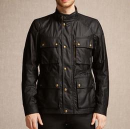 Descuento chaquetas de los hombres de cera Otoño-Moda hombres de la marca Casual chaqueta outcoat, Nuevos hombres de la chaqueta encerada, casual hombre chaqueta impermeable