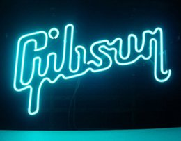 Wholesale GIBSON GUITAR MUSIC NEON SIGN DISPLAY STORE ROOCK BAR PUB MANCAVE GIFTSIGN Avize Neon Nikke Air Jorddan Neon Light Sign quot X14 quot