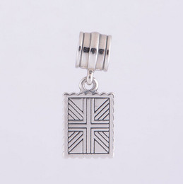STERLING SILVER GREETINGS FROM LONDON DANGLE DIY Beads Solid 925 Silver Not Plated Fits Pandora Bracelet&Charms
