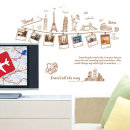 PVC Removable Large Wallpaper World Map Wall Sticker Poster Home Decoration Travel Photo Frame Wall Decals Wall Paper Art