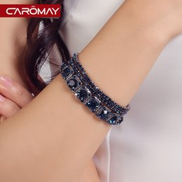 Wholesale Card Lome crystal bracelet female Korean fashion jewelry gift K gold glitter multi noble jewelry