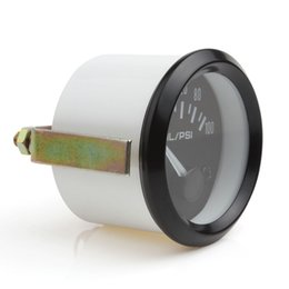 Wholesale 2pcs mm Universal Auto Car Oil Pressure Gauge inch Psi Car Oil Press Gauge Meter LED Oil Pressure Gauge Meter CEC_544