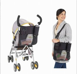 Wholesale 2015 Portable Waterproof Stroller Accessories Storage Bottle Diapers Tote Organizer Handbag Mommy Pouch GNV