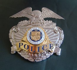 Wholesale Losangeles LAPD METAL BADGE INSIGNIA badge copper