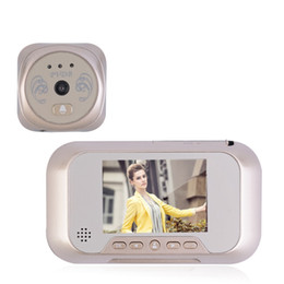Wholesale Lcd Digital Peephole Door Bell - LCD Digital Photograph Doorbell Door Peephole Viewer Camera Cam Monitor Home Security Door Bell Eye Support 32G Memory Card Gold