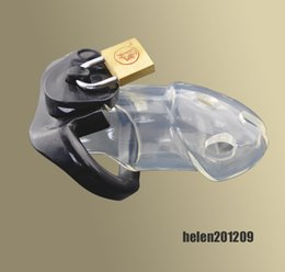 Wholesale Amazing Price Latest Design Male Bondage Polycarbonate Locking Chastity Device Fetish New BDSM A163