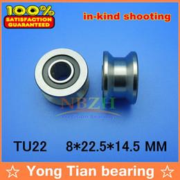 Wholesale 10pcs high quality TU22 mm V U groove pulley bearings T22 mm V groove roller wheel ball bearing T U