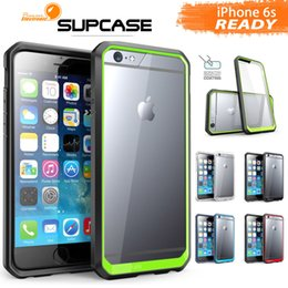 Wholesale SUPCASE iPhone S Hybrid Transparent Hard Back Colorful Bumper Case TPU PC Case For iPhone Plus Samsung Note With Retail Package