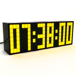Wholesale Digital Large Big Jumbo LED Wall Desk Alarm Clock Hour Display Snooze Date Countdown Alarm Clock
