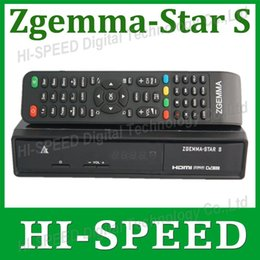 Wholesale 1PC Zgemma Star S Satellite Receiver DVB S2 Mhz CPU linux Enigma2 system upgraded from Cloud ibox plus