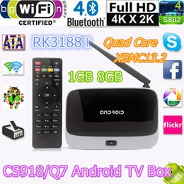 Wholesale Android kitkat TV Box XBMC GOTHAM Mini TV RK3188T Quad Core GB GB PC Stick With IR Remote Controller CS918 Wifi Antenna
