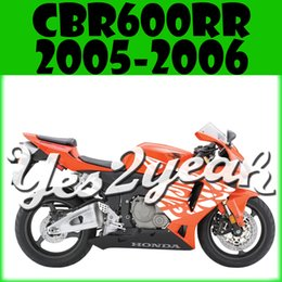Wholesale Yes2yeah Aftermarket Injection Mold Fairing For Honda CBR600RR CBR RR Complete Set White Orange H65Y543 Free Gifts