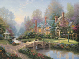 Oil Painting Prints Thomas Kinkade London Decoration Pieces For Living Room Canvas Art Panel Paintings Living Room Wall Chea