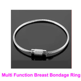 1 Pair Multi Function Breast Bondage Rings Female Boobs Booby Restraint BDSM Bondage Gear Fetish Sex Toy Ankle Wrist Cuffs B0316023