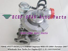 NEW TD04L 49377-04505 49377-04502 49377-04504 14412AA4560 Turbocharger Turbo For SUBARU Impreza WRX STI 2004- Forester 2007- EJ25 2.5T 2.5L
