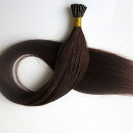 Pre bonded brazilian hair I Tip human Hair Extensions 50g 50strands 18 20 22 24inch #4 Dark Brown straight Indian Hair