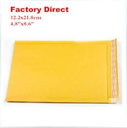 """Wholesale-12.2x17.8cm courier bags 100pcs Kraft Bubble Mailers Padded Envelopes Bags 4.8""""X8.6"""" 12.2cmX21.8cm"""