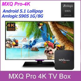 Pc hd à vendre-MXQ Pro 4K TV Box S905 Quad Core Android 5.1 1G / 8G HDMI WIFI XBMC Kodi 4K Mini PC Miracast 12p