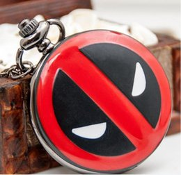 Deadpool anime Deadpool quartz Watches Retro Han edition sweater chain Necklace pocket watches