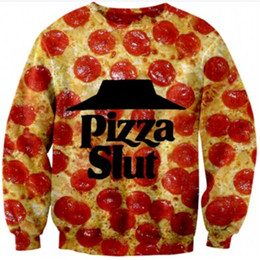 Wholesale New men women s tops D letter print Pizza Slut Breaking Bad funny food sweatshirts autumn hoodies sport suirts tracksuirt