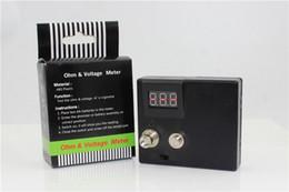 Wholesale 2015 new arrival ecig atomizer value of resistance testers Ohm reader ohmmeter Voltmeter resistance testing instrument via epacket