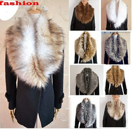 Wholesale Hot NEW Colors Womens Shrug Winter Fashion Faux Fur Collar Scarf Warm Shawl Wrap Stole Cape new arrive