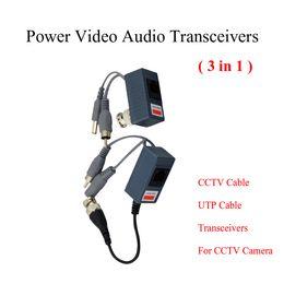 CCTV BNC video Balun UTP Video Balun power Passive Balun Rj45,POE Power Video Audio 3 in 1 Transceivers CCTV spare parts
