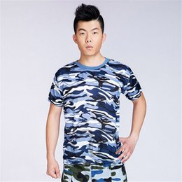 Wholesale-Mens Camouflage Tactical  Soldier Short Sleeve T-Shirt Quick Dry Tee Tops Asian L-XXXL