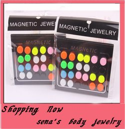 fashion fake earring mix candy color 24pcs lot 8mm magnetic circle round stud earring magnetic earrings