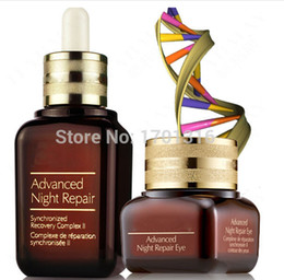 Wholesale 1set Famous Advance Night Repair for face and eye Syncronized Recovery Complex ml ml set Renew and repair face and eye skin