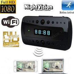 Promotion camera ip ir cachée Mini caméra 1080P WIFI Caméra HD SPY DVR Invisible IP Clock Night Vision Wireless Video Recorder T10 IR Cam
