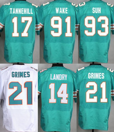 Wholesale 2016 Mens Elite Stitched Jarvis Landry Jay Ajayi Ryan Tannehill Dan Marino Jerseys Aqua White Free Drop Shipping