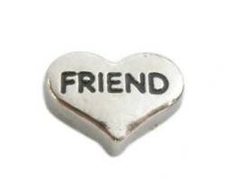 20PCS lot DIY Friend Alloy Heart Floating Locket Charms Fit For Memory Magnetic Locket Necklace Making