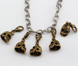 Wholesale Hot Antique bronze D Small Football Helmet Charms With lobster clasp Fit Charm Bracelet DIY Jewelry x27mm