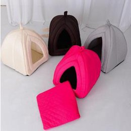 Wholesale Thick and solid Small Dog Kennel Tent Tai Diji Doll Dog House Soft and comfortable pet Dog Cat Bed colorful pet house b102