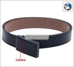 Venta caliente hebilla de cinturón espía cámara oculta, correa DVR videocámara, cámara estenopeica espía correa / cámara encubierta cámara oculta de cuero desde cámara espía venta caliente fabricantes
