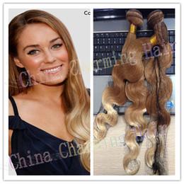 T10 613 Platinum Blonde Ombre Hair Extensions 3 pcs Bundle Ombre Peruvian Virgin Hair Body Wave Human Hair Weaving Extension