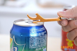 Wholesale Portable Stainless Steel Bottle opener Key Chain Ring Aluminum alloy beer wine openers bar club waiter tools