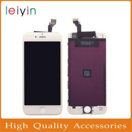 Part entière à vendre-Top qualité iphone6 4.7inch Pas de pixels morts Écran d'affichage à cristaux liquides d'affichage à cristaux liquides avec le cadre Pièce de rechange complète d'assemblage