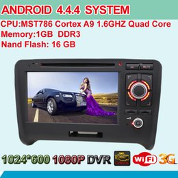Wholesale Quad Core Android System Head Unit Car DVD Player GPS Navi RDS BT Phonebook HD Screen For Audi TT