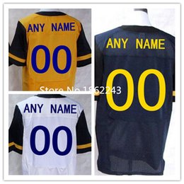 Factory Outlet- Cheap Custom West Virginia Mountaineers customized Jersey Men Women Youth College Football Jerseys Embroidery Logo Free ship