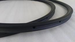 Tubular 24mm light road bike rims 23mm width 20 24h carbon bicycle rims 3K matte surface basalt braking track bike wheel rim