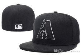 Wholesale MLB Arizona Diamondbacks Fitted Cap Embroidered Team Logo Baseball Cap Casual Style sport Hats