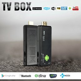 Androide dlna palo de televisión en Línea-MK809 IV TV Android Dongle Dongle RK3128 Quad-Core 1G / 8G Full HD Mini PC Kodi XBMC Miracast DLNA H.265 WiFi