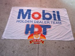 Wholesale mobil hot holden dealer team flag polyester CM size mobil banner